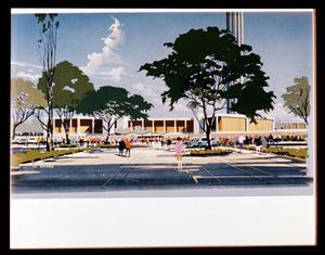 Primary view of object titled 'HemisFair buildings'.