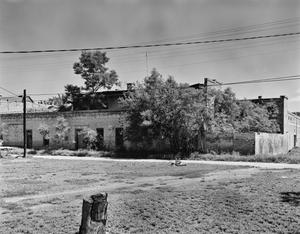 Primary view of object titled '[Julian la Caze House/Store, (Southeast oblique)]'.