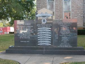 Primary view of object titled 'Cherokee County Peace Officers Memorial'.