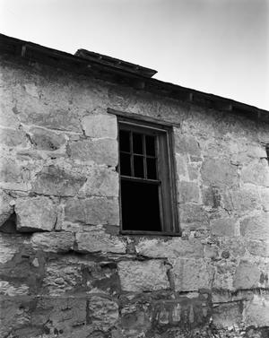 Primary view of object titled '[Fort Clark Barracks, (Window detail)]'.