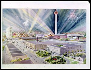 Primary view of object titled 'Overview of Downtown and HemisFair'.