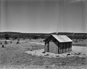 Primary view of object titled '[Reynolds Bend School House, (Southeast oblique)]'.