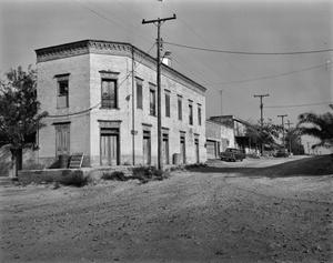 Primary view of object titled '[Pulqueo Cantina, (Southeast corner)]'.