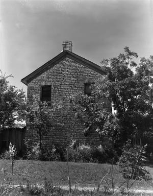 Primary view of object titled '[J.A. Adkins Rock House]'.
