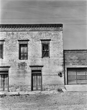 Primary view of object titled '[Pulqueo Cantina, (East elevation North end)]'.