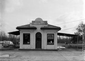 Primary view of object titled '[Chicken Shack, (North facade)]'.