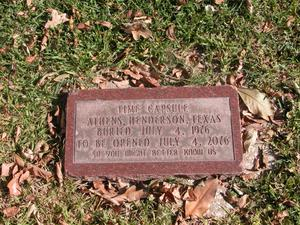 Primary view of object titled 'Time capsule on the grounds of the Henderson County Courthouse'.