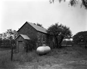 Primary view of object titled '[L.G. Eckert Smokehouse, (West)]'.