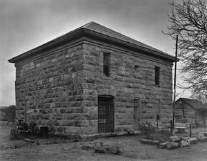Primary view of object titled '[Old Taylor County Courthouse and Jail, (Northwest oblique)]'.
