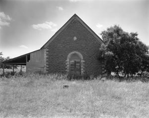 Primary view of object titled '[Old Lutheran Church, (East elevation)]'.