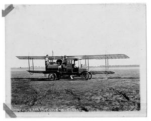 Primary view of object titled '[Biplane Fueling at Love Field]'.