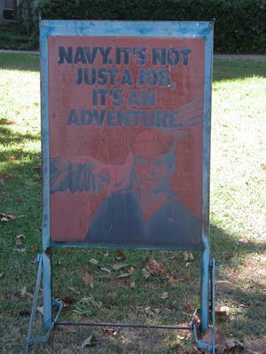 Primary view of object titled 'Navy Recruitment Sign'.