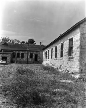 Primary view of object titled '[Fort Clark Barracks, (North)]'.