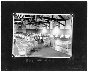Primary view of object titled '[Love Field: Interior of Officers Club]'.