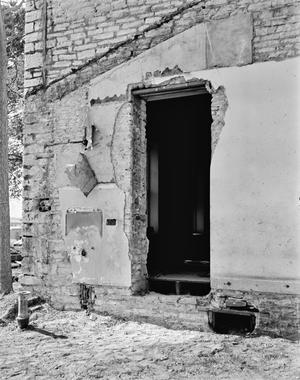 Primary view of object titled '[Carrington-Covert House, (East window of Room 103, exterior view)]'.