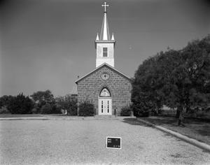 Primary view of object titled '[Saint Joseph's Catholic Church, (East elevation)]'.