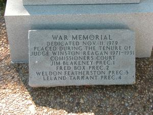 Primary view of object titled 'War Memorial, Henderson County'.