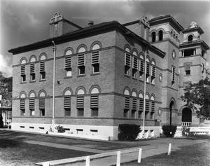 Primary view of object titled '[Henrietta M. King High School, (Oblique/South/West facades)]'.