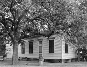 Primary view of object titled '[John C. Roberts House, (Southwest oblique of kitchen addition)]'.