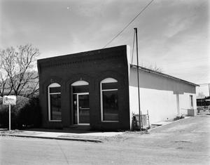 Primary view of object titled '[Marfa Lumber Company Storefront]'.