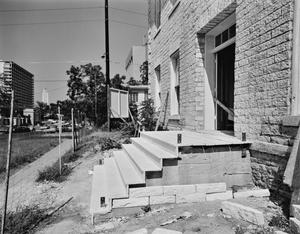 "Primary view of object titled '[Carrington-Covert House, (Construction detail ""Front steps"")]'."