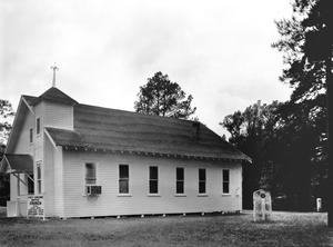 Primary view of object titled '[First Concord Baptist Church, (Northwest oblique)]'.