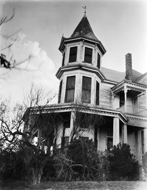 "Primary view of object titled '[""Denver"" (C.D. Hartnett House), (Northeast oblique (corner turret))]'."