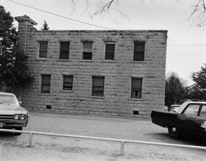 Primary view of object titled '[Shackelford County Jail #2, (West elevation)]'.