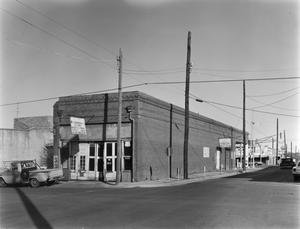 Primary view of object titled '[Charles White and Sons Garage, (Southwest oblique)]'.