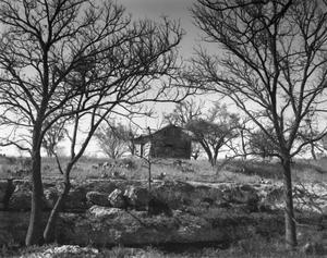 Primary view of object titled '[Kensing Ranch, (Log cabin. West.)]'.