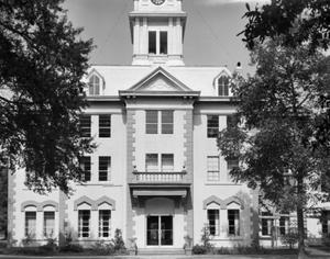 Primary view of object titled '[Newton County Courthouse, (West elevation)]'.