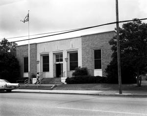 Primary view of object titled '[United States Post Office, (West facade)]'.