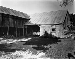 Primary view of object titled '[Badenthal, (Southwest oblique of Cypress Barn.)]'.