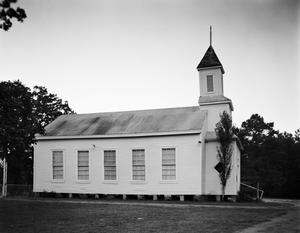 Primary view of object titled '[Woods Memorial Methodist Church, (East elevation)]'.