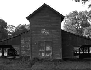 Primary view of object titled '[Church (barn), (West facades)]'.