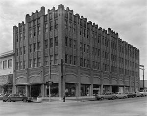 Primary view of object titled '[O'Kelley Office Supply, (Facade and side elevation)]'.