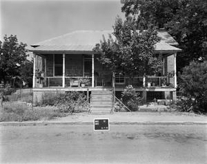 Primary view of object titled '[Old Methodist Parsonage, (East elevation)]'.