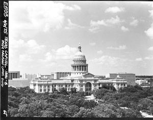 Primary view of object titled '[Texas Capitol, (From Railroad Commercial Building)]'.