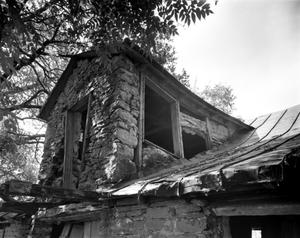 Primary view of object titled '[Schoolhouse and Barn]'.