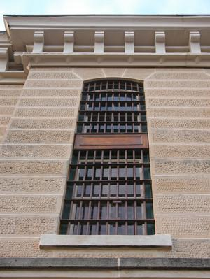 Primary view of object titled 'Red River County Jail, detail of window'.