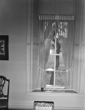 Primary view of object titled '[John Larn House, (Interior West window)]'.