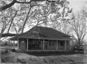 Primary view of object titled '[Shauberger House, (East-South oblique)]'.