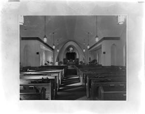 Primary view of object titled '[Saint Paul's Lutheran Church, (Interior)]'.