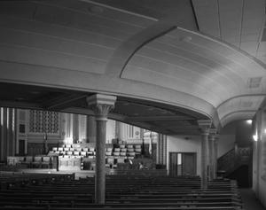 Primary view of object titled '[First Baptist Church, (Interior)]'.