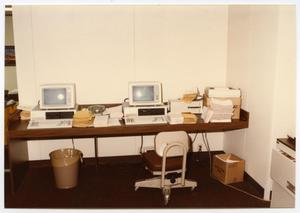 Primary view of object titled '[Love Field Interior : Office Work Area]'.