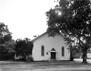 Primary view of object titled '[Willis Methodist Church, (East elevation)]'.