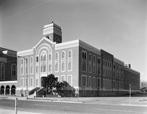 Primary view of object titled '[First Baptist Church, (Exterior)]'.
