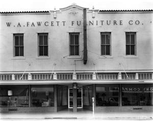 Primary view of object titled '[Fawcett, (Front elevation)]'.