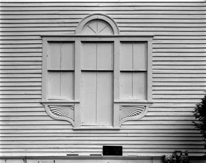 Primary view of object titled '[Saint Stephen's Episcopal Church, (Window detail, South elevation (front))]'.