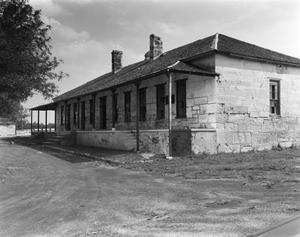 Primary view of object titled '[Fort Clark Guardhouse]'.